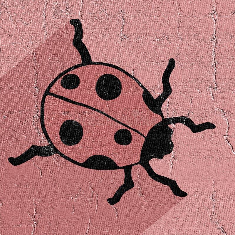 Ladybug icon. Creative design of ladybug icon royalty free illustration
