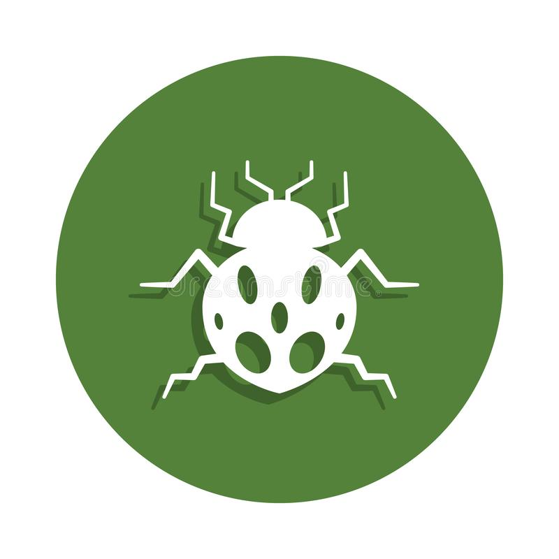 Ladybug icon in badge style. One of insects collection icon can be used for UI, UX. On white background vector illustration