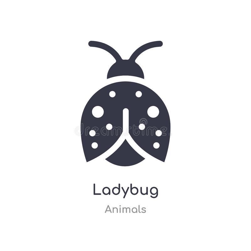 Ladybug icon. isolated ladybug icon vector illustration from animals collection. editable sing symbol can be use for web site and. Mobile app stock illustration