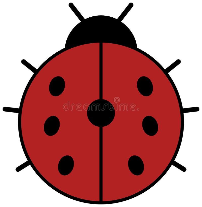 Ladybug icon. Ladybird clipart. Ladybug icon. Red ladybird clipart vector illustration royalty free illustration
