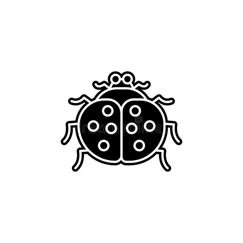 Ladybug icon. Simple glyph, flat vector of autumn icons for ui and ux, website or mobile application. On white background vector illustration