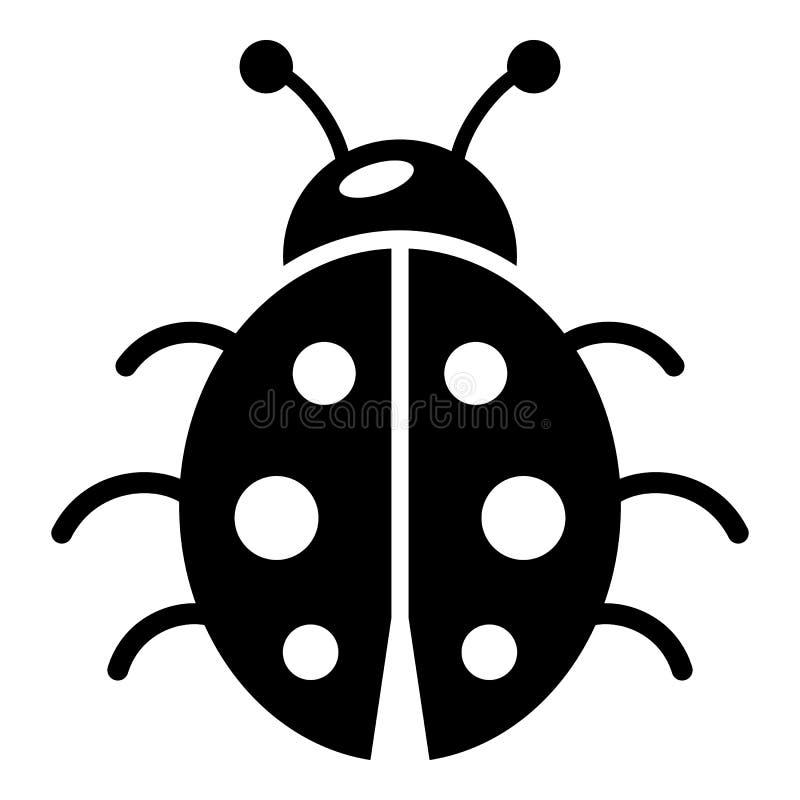 Ladybug icon, simple black style. Ladybug icon. Simple illustration of ladybug vector icon for web vector illustration