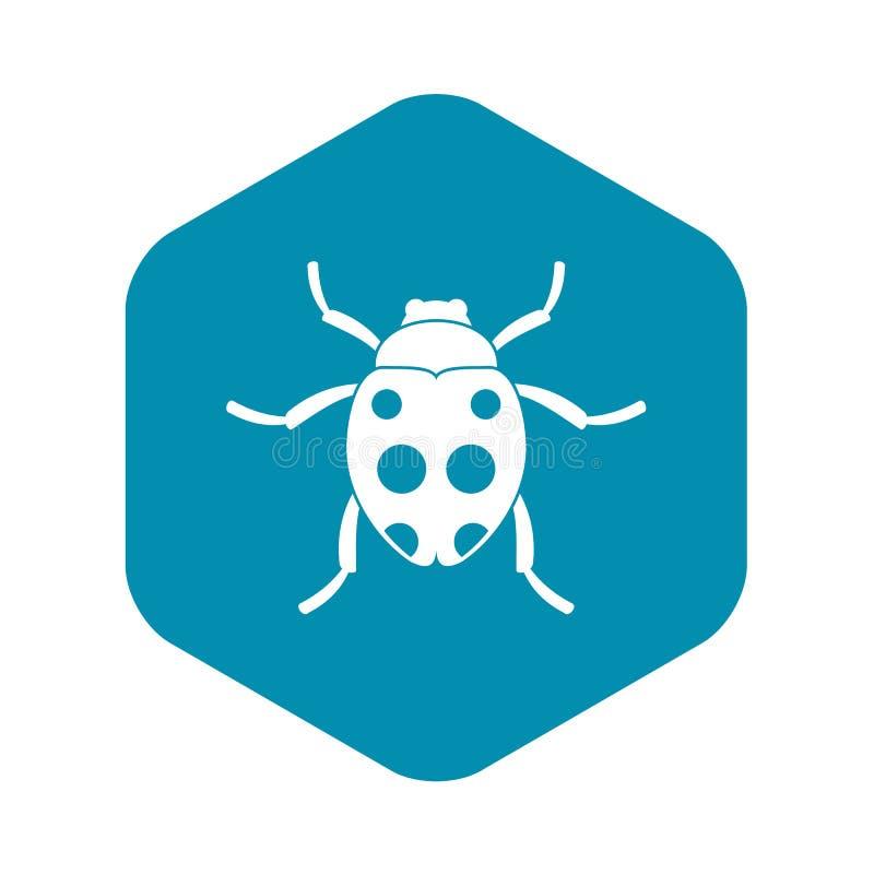 Ladybug icon, simple style. Ladybug icon. Simple illustration of ladybug vector icon for web stock illustration