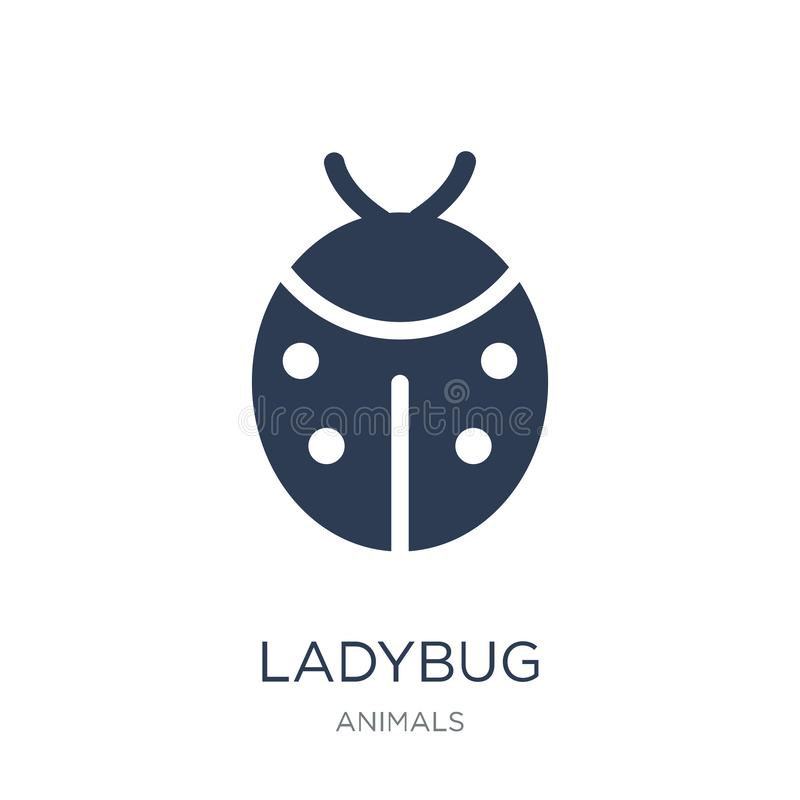 Ladybug icon. Trendy flat vector Ladybug icon on white background from animals collection. Vector illustration can be use for web and mobile, eps10 stock illustration