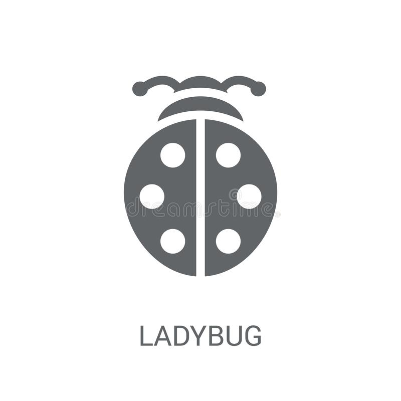 Ladybug icon. Trendy Ladybug logo concept on white background fr. Om animals collection. Suitable for use on web apps, mobile apps and print media royalty free illustration