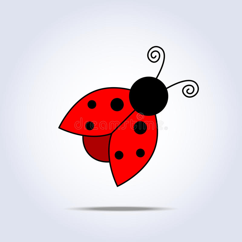 Ladybug icon vector illustration