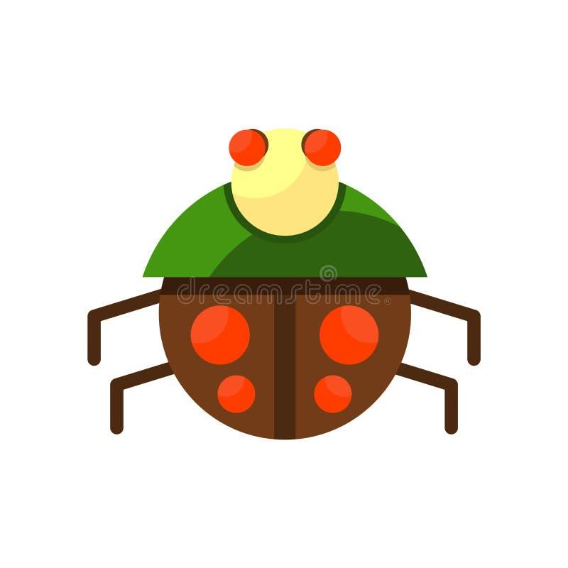 Ladybug icon vector isolated on white background, Ladybug sign , colorful symbols. Ladybug icon vector isolated on white background, Ladybug transparent sign royalty free illustration