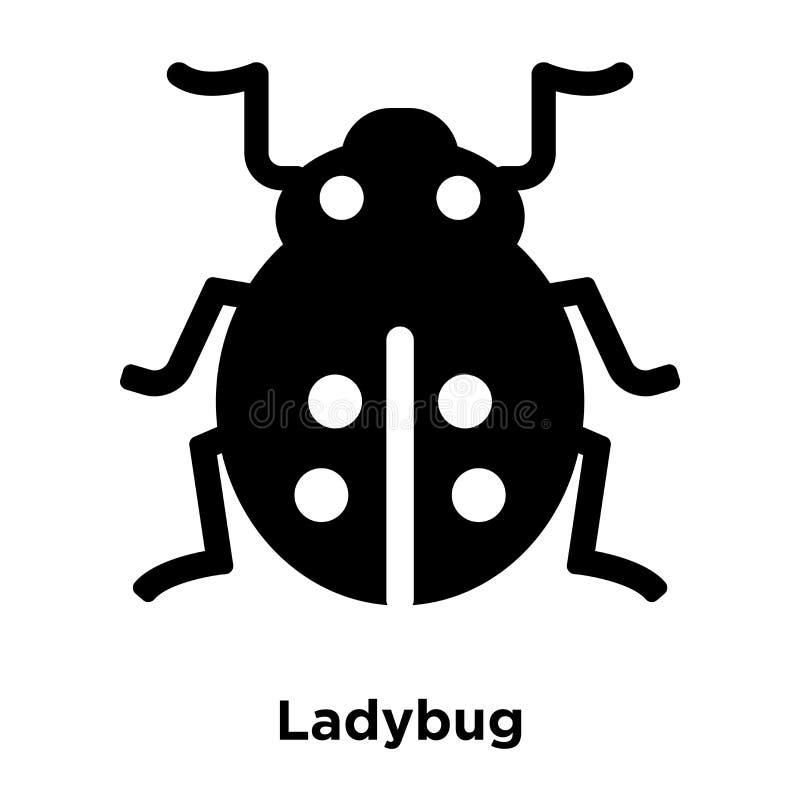 Ladybug icon vector isolated on white background, logo concept o. F Ladybug sign on transparent background, filled black symbol royalty free illustration