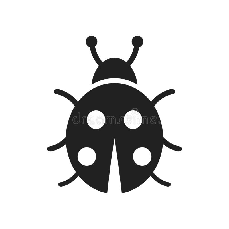 Ladybug icon vector isolated on white background, Ladybug sign. Ladybug icon vector isolated on white background, Ladybug transparent sign , farm symbols stock illustration