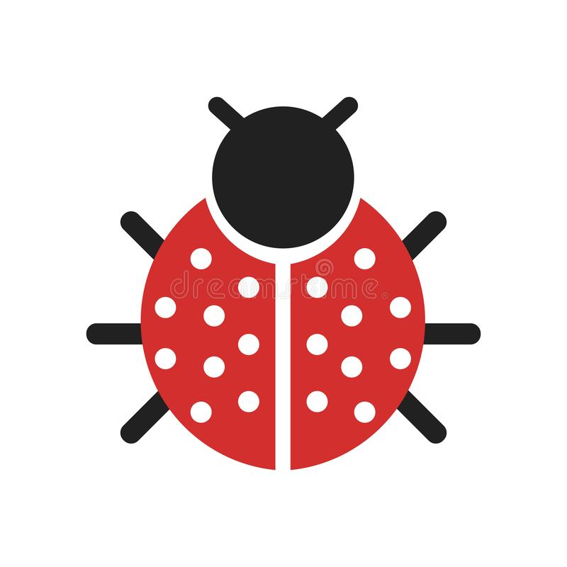Ladybug icon vector sign and symbol isolated on white background. Ladybug icon isolated on white background for your web and mobile app design vector illustration