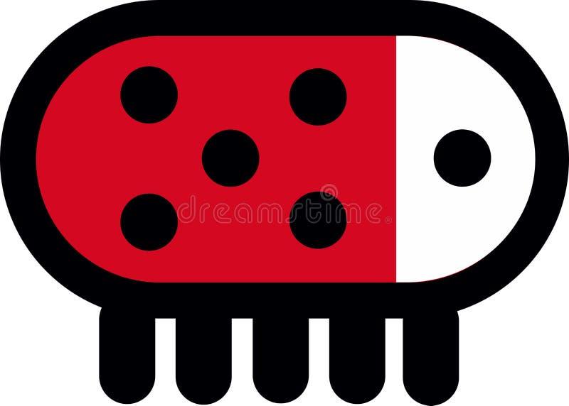 Ladybug Logo Abstract android. Robotic stock illustration