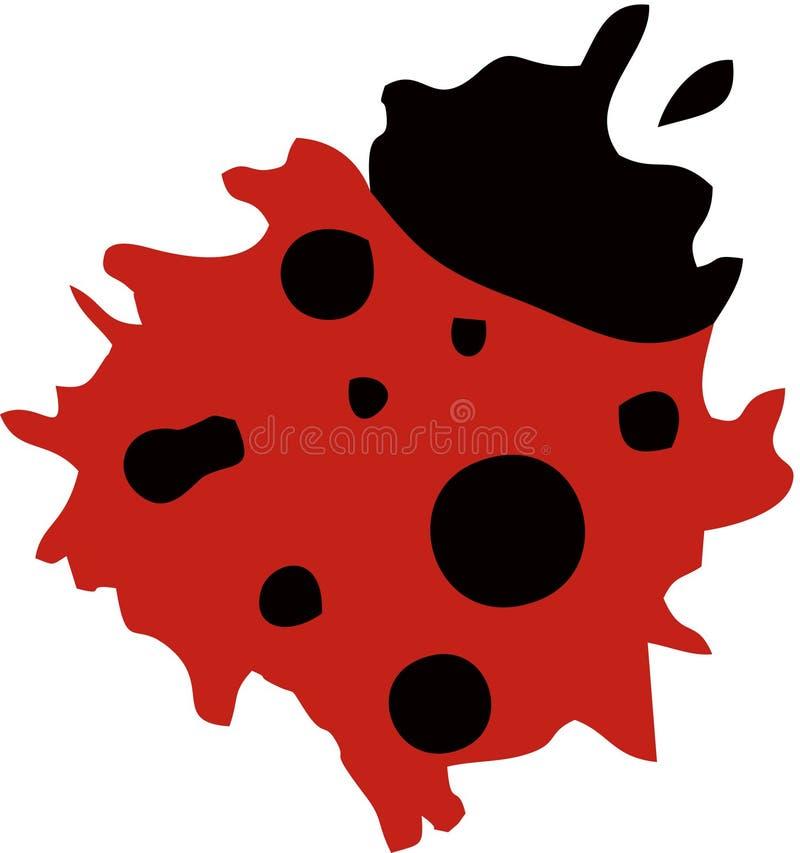 Ladybug Logo Abstract. Splash Paint stock illustration