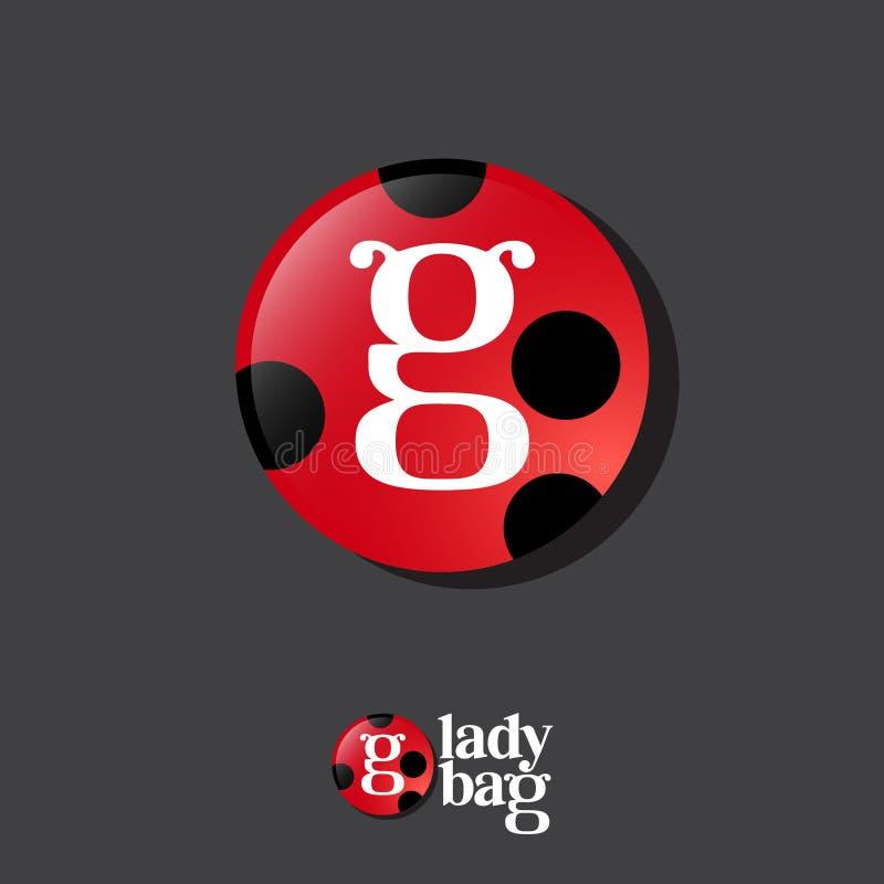 Free Ladybug Logo. Fun Letter G With Insects Antennae. Kids Team Emblem. Glossy Icon Of Ladybug. Stock Images - 153234734