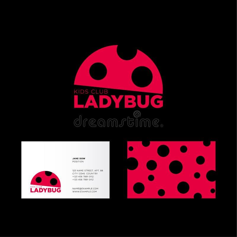Ladybug Logo. Kids Club Logo. Flat Icon Of Ladybug. The Business ...