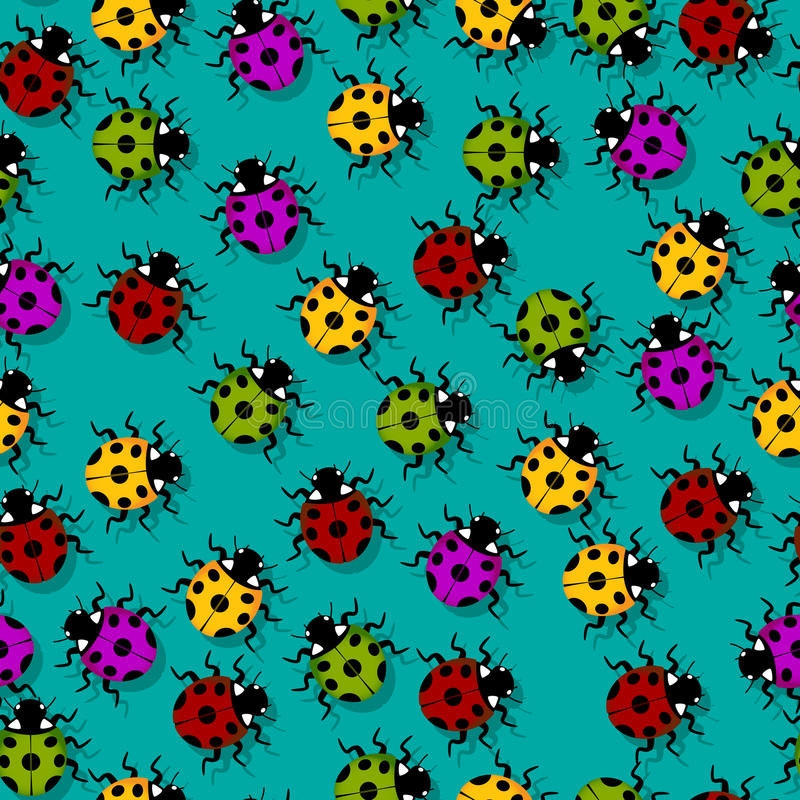 Download Ladybug pattern stock vector. Image of abstract, animal - 28523362
