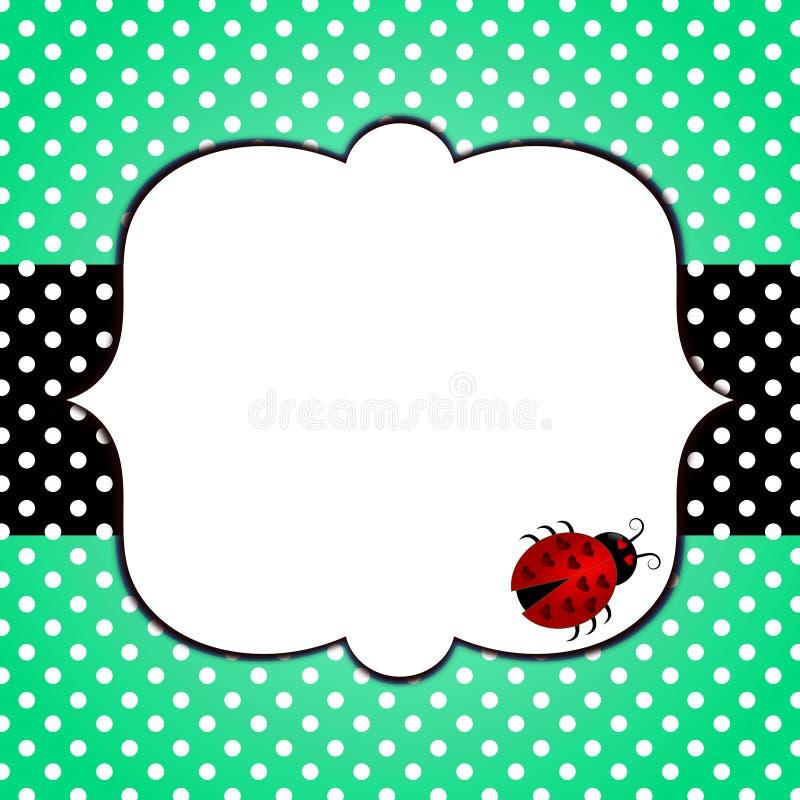 Ladybug Polka Dots Frame stock image