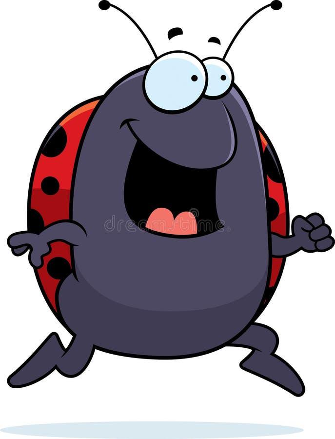 Ladybug Running Stock Photo