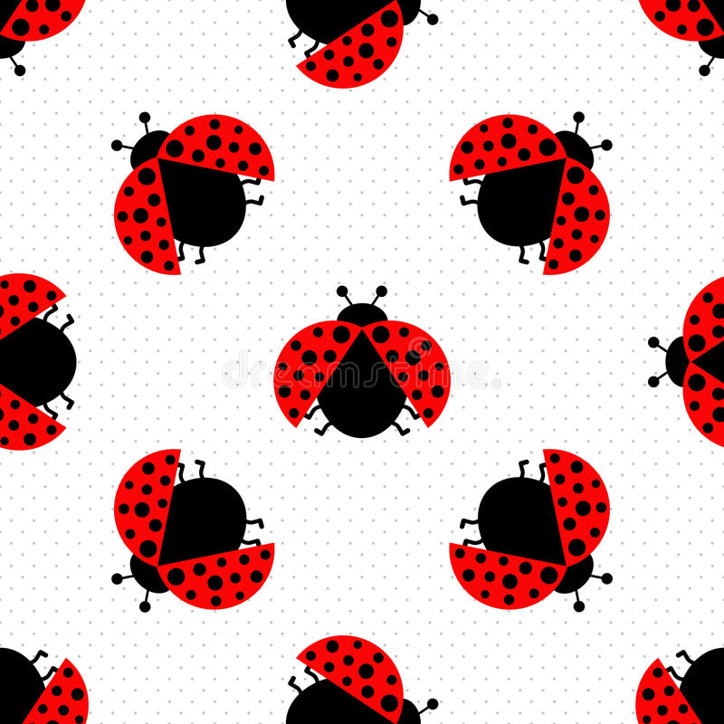 Ladybug seamless stock illustration