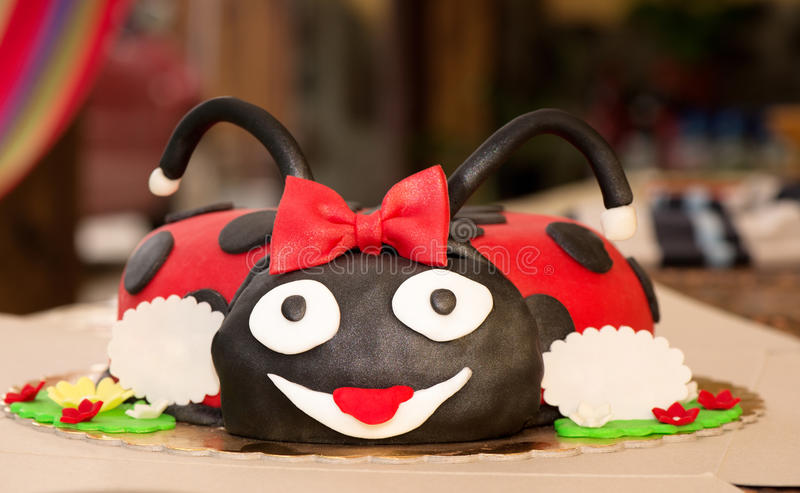 Excellent Ladybug Birthday Cake Cake Stock Photo Image Of Small 30507818 Funny Birthday Cards Online Alyptdamsfinfo