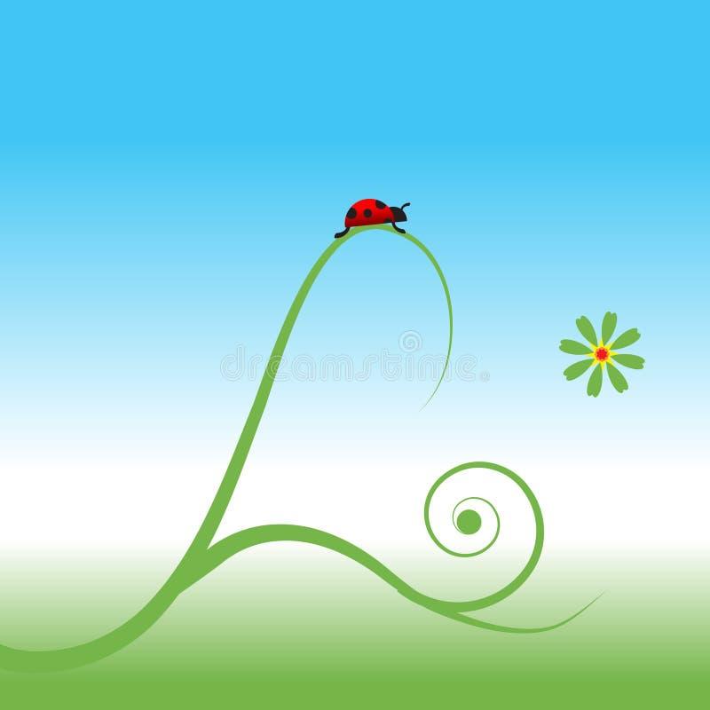 Download Ladybug, spring background stock vector. Image of garden - 10275029