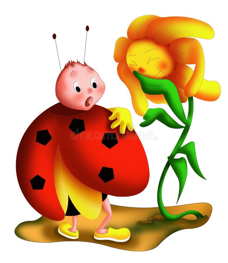 Ladybug Surprise Stock Photos