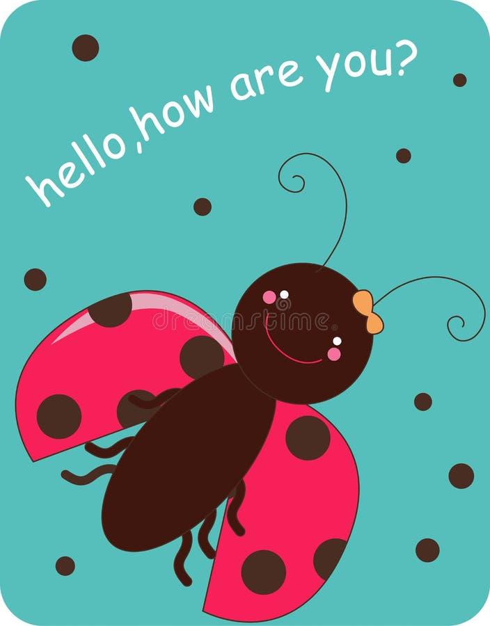 Ladybug sveglio royalty illustrazione gratis