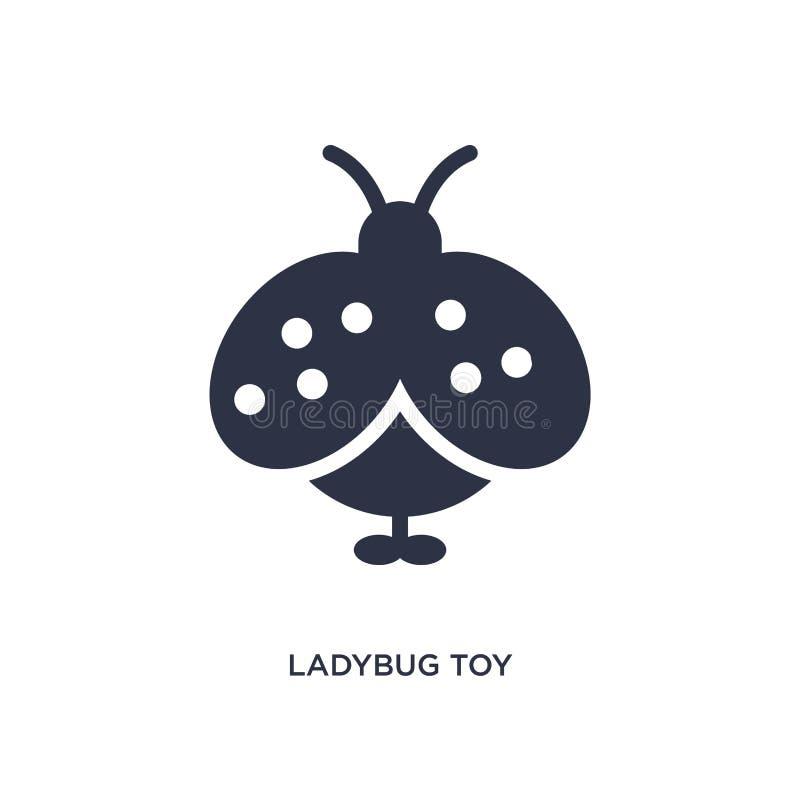 Ladybug toy icon on white background. Simple element illustration from toys concept. Ladybug toy icon. Simple element illustration from toys concept. ladybug toy royalty free illustration