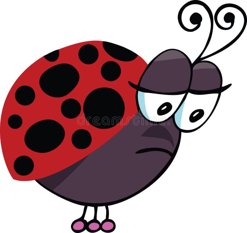 Ladybug triste royalty illustrazione gratis