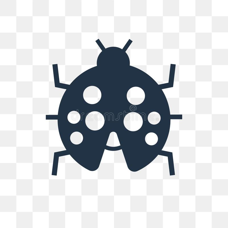 Ladybug vector icon isolated on transparent background, Ladybug. Transparency concept can be used web and mobile, Ladybug icon vector illustration