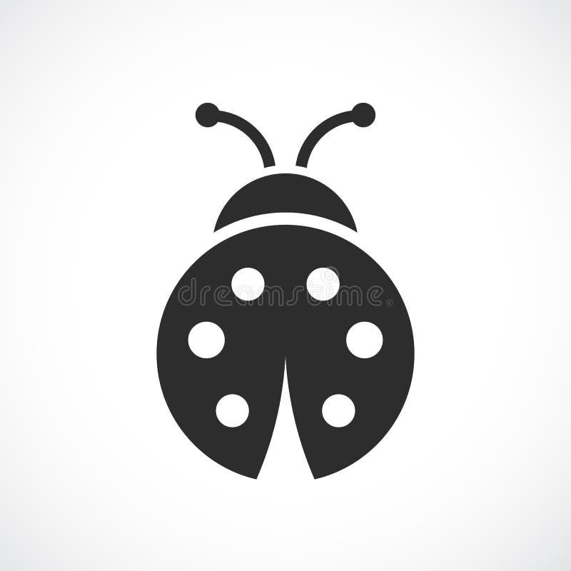 Ladybug vector icon. On white backrgound royalty free illustration