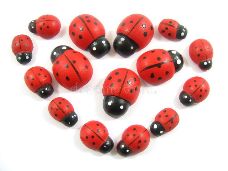 Ladybugheart imagen de archivo