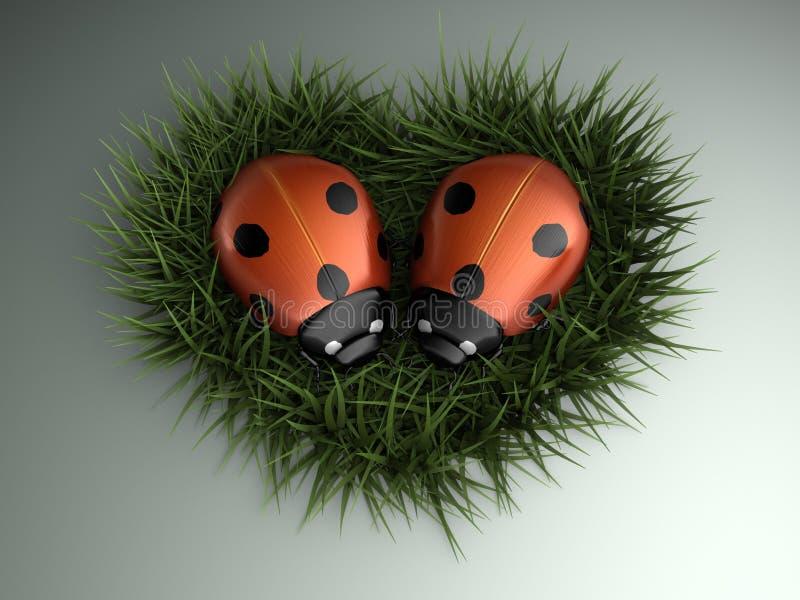 ladybugs сердца бесплатная иллюстрация