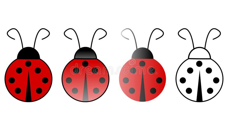 Ladybugs royalty illustrazione gratis