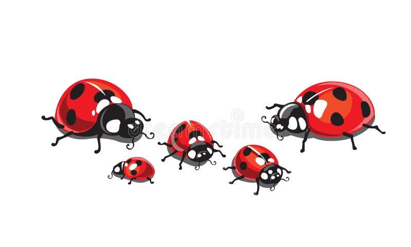 ladybugs illustrazione vettoriale