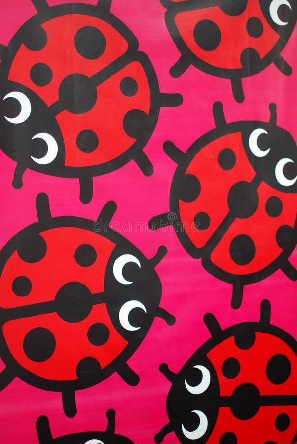 Ladybugs coloridos de la historieta foto de archivo libre de regalías
