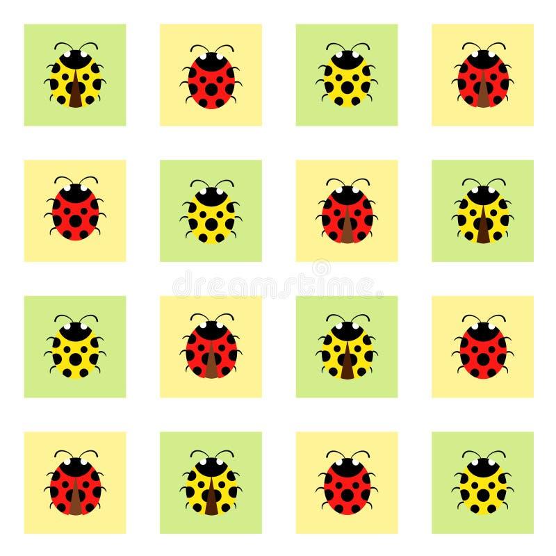 Ladybugs pattern royalty free stock photography