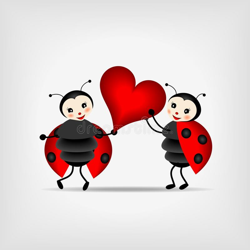 Free Ladybugs With Heart Stock Photography - 23774202