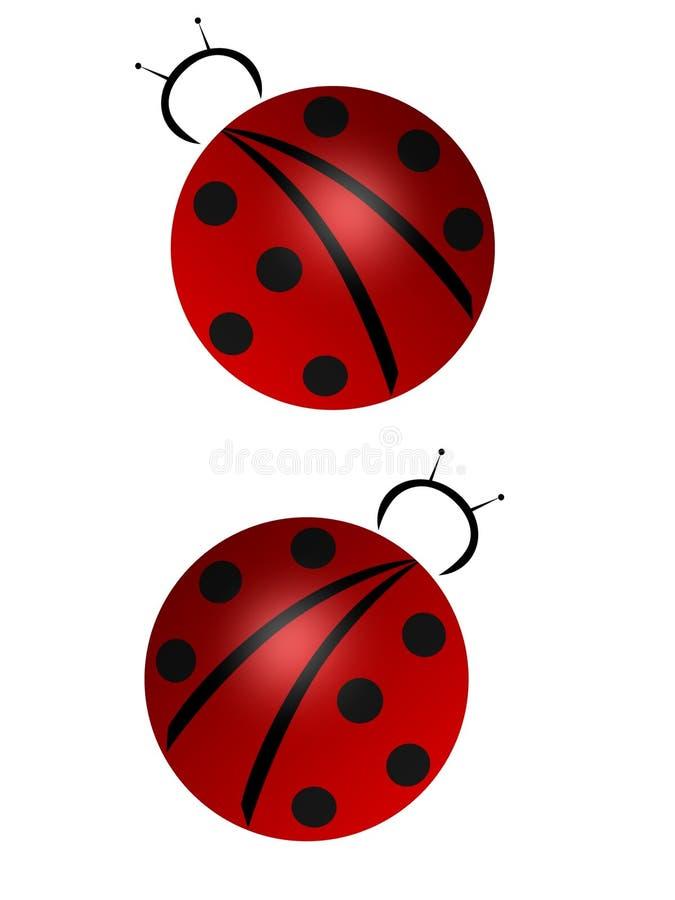 Download Ladybugz stock illustration. Illustration of over, illustration - 456345