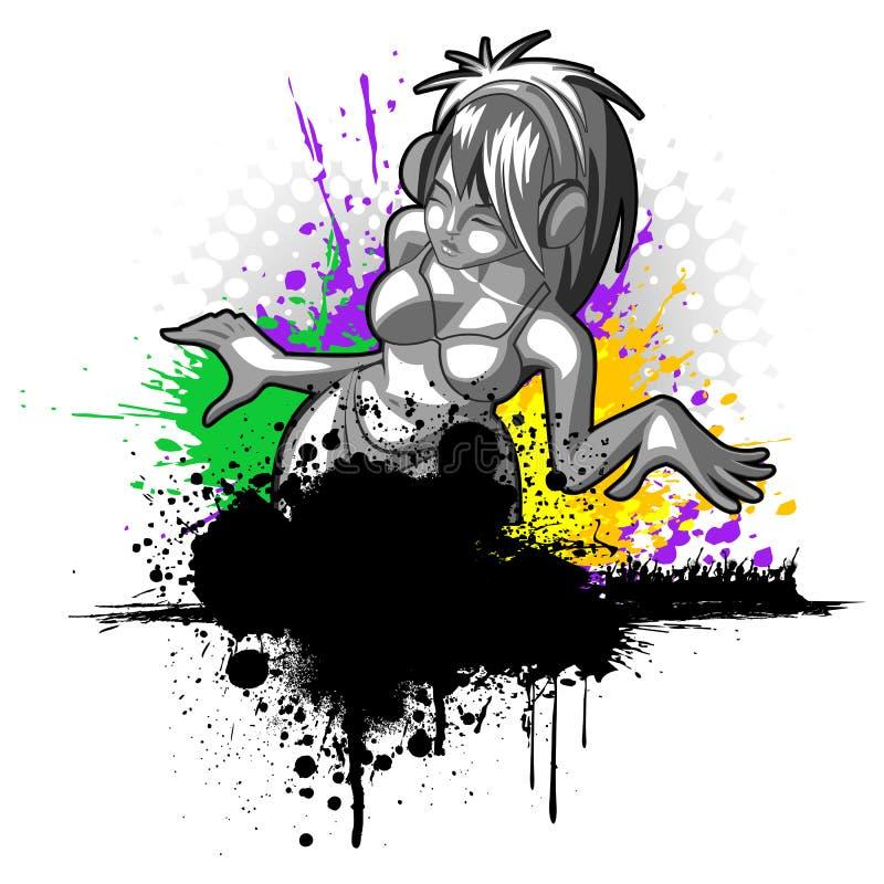ladydeltagare vektor illustrationer