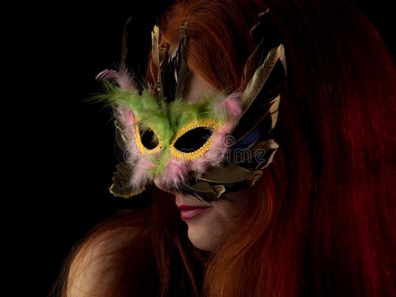 ladymaskering arkivfoto