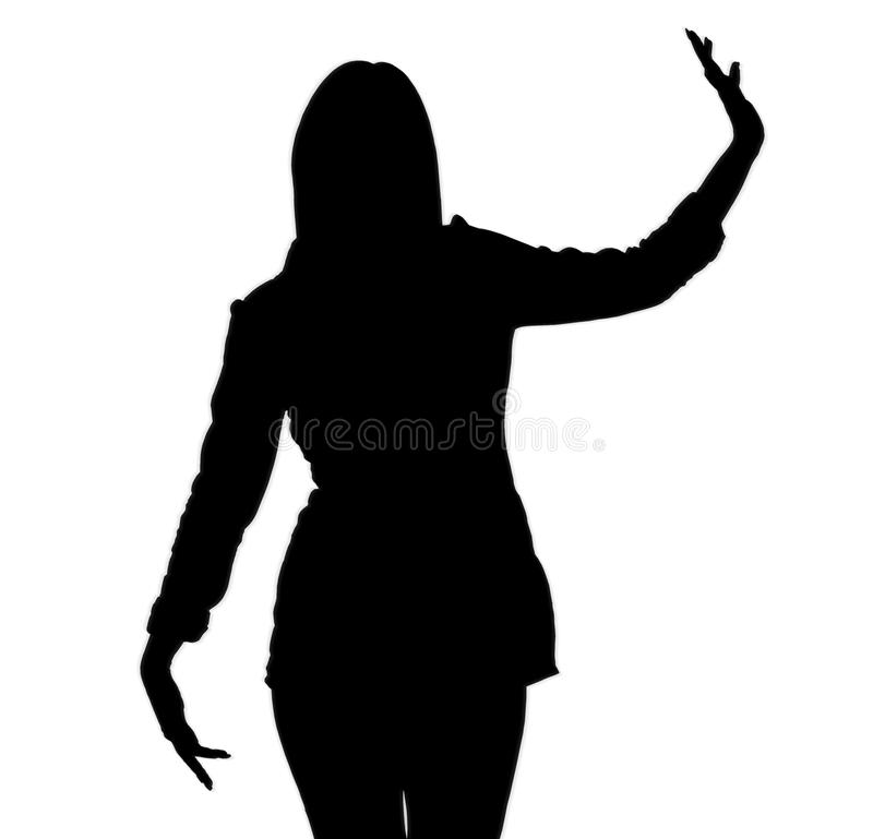 ladysilhouette vektor illustrationer