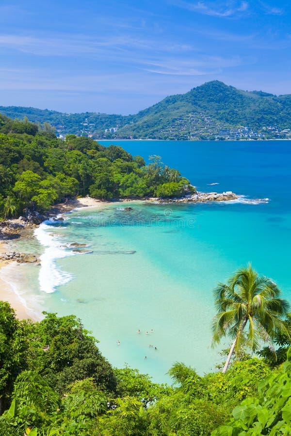 Laem唱海滩,位于普吉岛, 库存图片