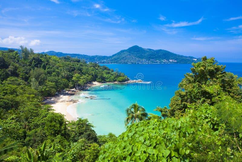 Laem唱海滩,位于普吉岛, 库存照片