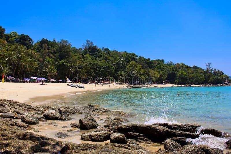 Laem canta la playa, Phuket, Tailandia fotografía de archivo libre de regalías