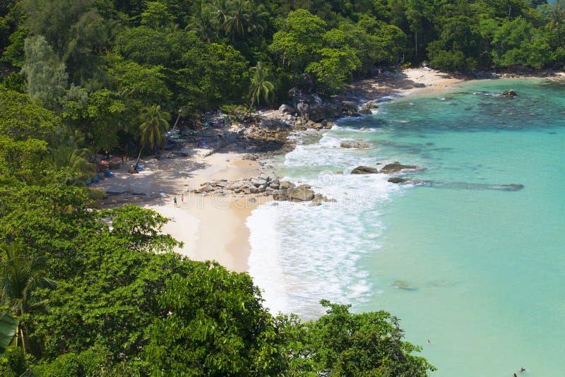 Laem canta la spiaggia, situata a Phuket, immagini stock