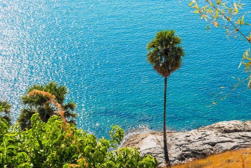 Laem Phromthep海角观点在普吉岛,普吉府泰国 库存图片