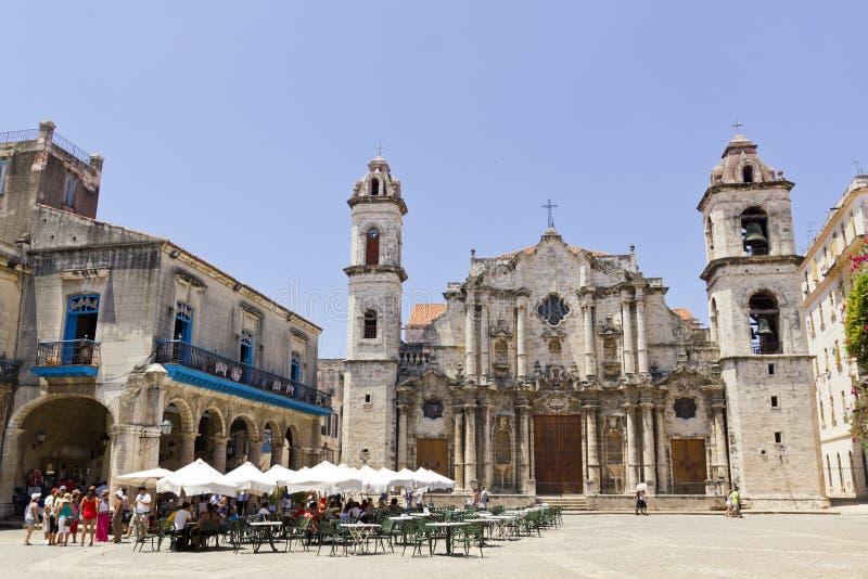 Laen Havana för domkyrkade San Cristobal de royaltyfria foton