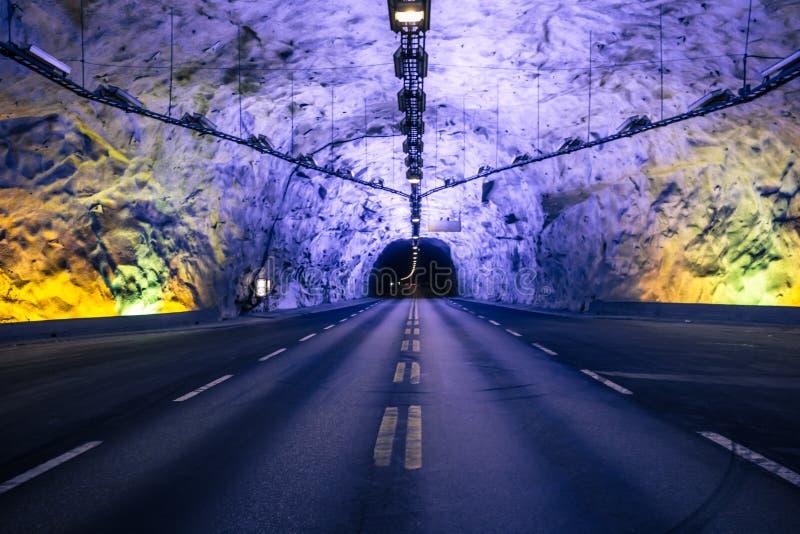 Laerdal, Norwegen - 14. Mai 2017: Der Laerdal-Tunnel, Norwa lizenzfreie stockfotos
