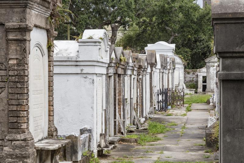 Lafayette cemetery in New Orleans. With historic Grave Stones royalty free stock image