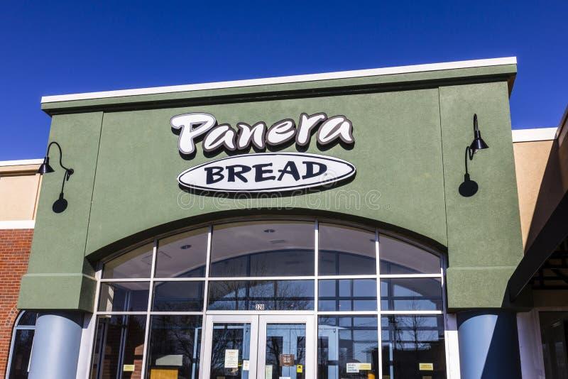 Lafayette - cerca do dezembro de 2016: Lugar do retalho do pão de Panera Panera é uma corrente dos restaurantes ocasionais rápido fotografia de stock